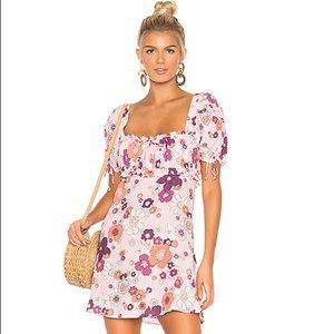 For Love & Lemons 🍋 Magnolia Dress Pink Floral